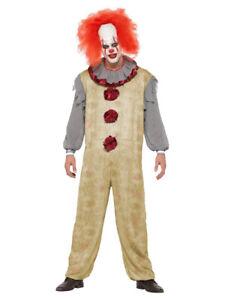 Herren-Kostüm Vintage Clown Killer Pennywise Halloween Horror Es Mörder Overall