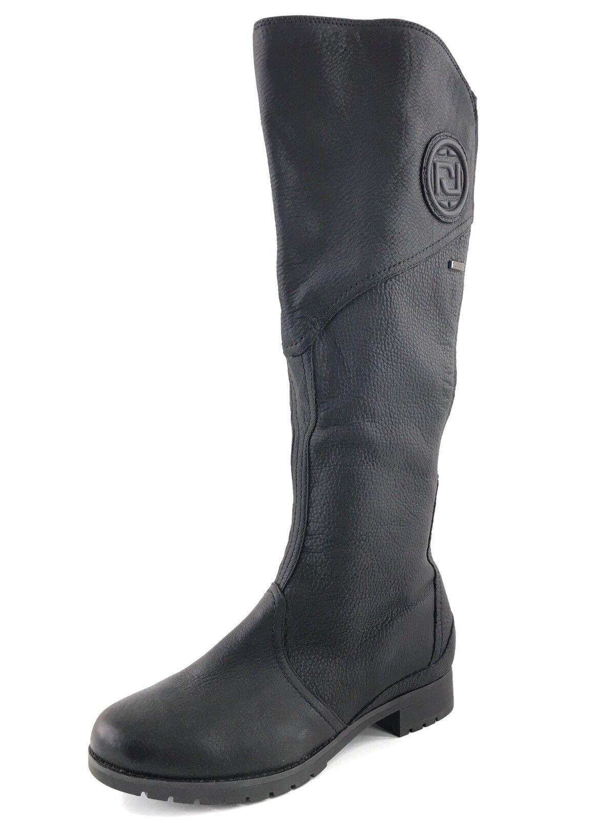 Nuevo Rockport Tristina Gore Cuero Negro botas Hasta La La La Rodilla amplia para mujer Talla 6 M   perfecto