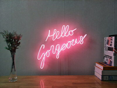 New Hello Gorgeous Neon Sign For Bedroom Wall Decor