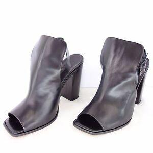 Slack Gr Slingback London Schwarz Leder Damen Np Schuhe Sandaletten Neu 40 239 TwTFIrq