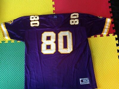 new product cb7e9 98cb6 Cris Carter Minnesota Vikings #80 Champion Authentic Jersey Men's Size 48  XL | eBay