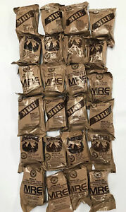 Military MRE Ready to Eat Survivial Ration Meal 6 Different Meals 3/20 Inspect