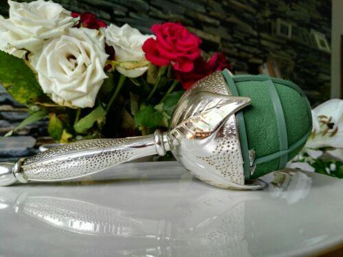 Oasis elegante plata brautstraußhalter Hammered bouquet holder straußhalter
