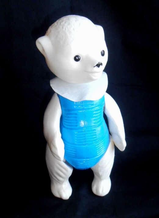 1950s USSR Russian Soviet EXCELLENT Plastic Toy bianca  TEDDY BEAR Mishka