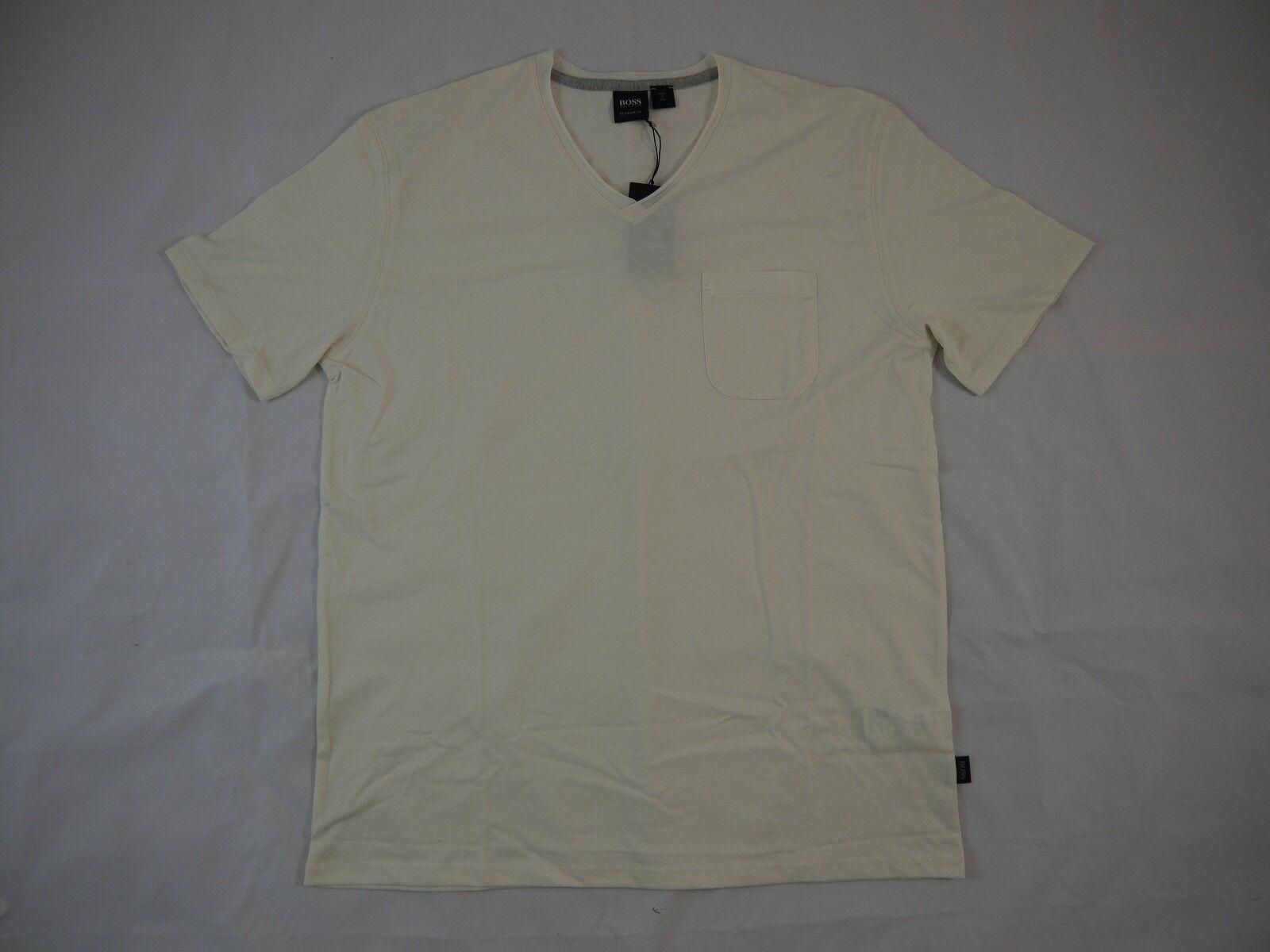Hugo Boss GR-Canistro Beige Cotton Short Sleeve T-Shirt  XL BNWT 100% Authentic
