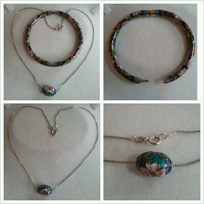 Fine Jewelry Dutiful Merveilleuse Chaîne En Argent Et Bracelet 925 Bracelet Argent Motif De Fleur 100% High Quality Materials Jewelry & Watches