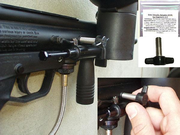 Tippmann A5 A 5 Side Velocity Adjuster Rear Stock Upgrade Paintball Marker