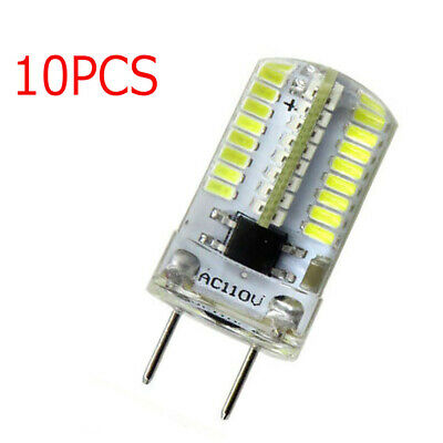 US Shipping 10x G8 G8.5 T5 Led bulb Dimmable 64-3014SMD Silicone Lamp White 110V