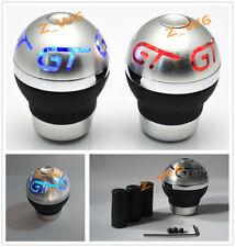 Universal Blue LED LIGHT GT RACING CAR Aluminum Shift knob shifter gear knob