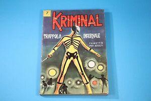 KRIMINAL-PRIMA-EDIZIONE-ORIGINALE-ED-CORNO-N-7-KR-007
