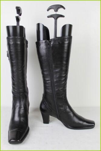 T pelle Comfort Stivali condizioni in Ottime Binome nera 36 HBRndWq4Xn