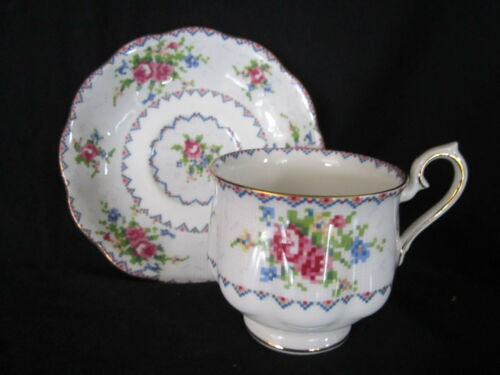 Royal Albert PETIT POINT Cup & Saucer Made in England