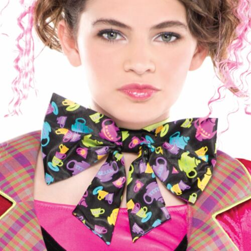 Tights Spat Hat Girls Teen Mad Hatter Fairytale Story Book Fancy Dress Costume