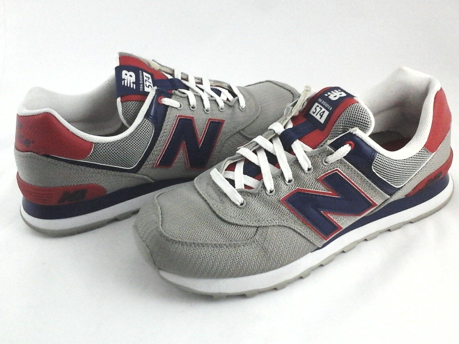 NEW BALANCE shoes 574 Encap Silver bluee Red Running Sneakers Men's US 8.5 EU 42