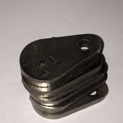 "AR500 Steel Target Gong 1//4/"" X 1/"" Set Of 5"