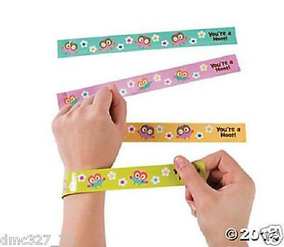 12 Birthday Everyday Party Favors OWL YOU'RE A HOOT Paper SLAP BRACELETS