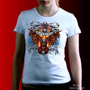 Gonna `N Rotolo Gotico Tatuaggio Heavy Metal Rockabilly Girl T-Shirt 1166 WH