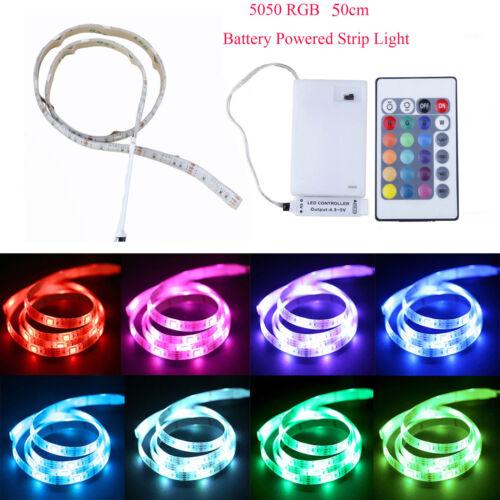 Battery Box+Remote Control Kit Waterproof Multi-color 5050 LED Strip Lights RGB