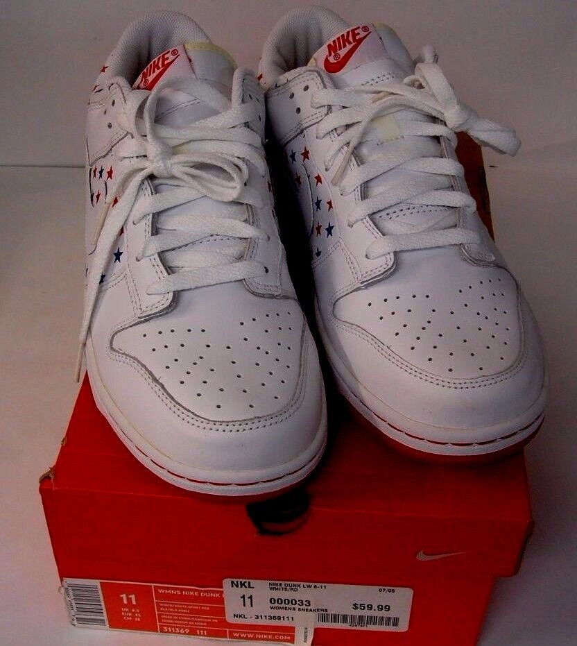 NIKE DUNK Low 4th Of July W11 / M9 311369-111 NEW IN THE BOX