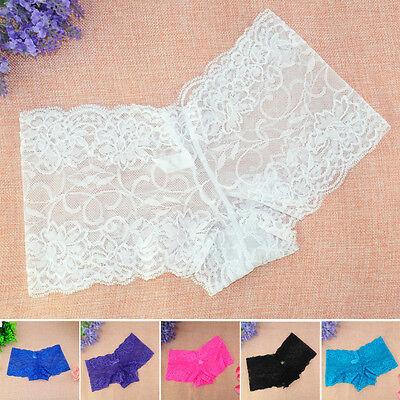 Womens Lady Lace Stretch Panties Lingerie Seamless Boyshorts Underwear Plus Size