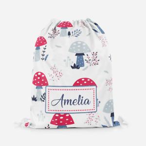 Personalised-Wild-Mushrooms-Girls-Kids-Swimming-School-Children-039-s-Drawstring-Bag
