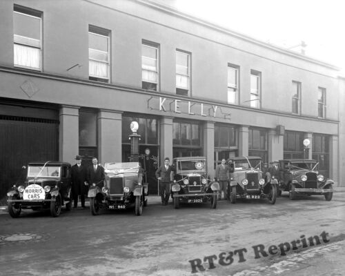 Kelly/'s Garage 1928 8x10 Historical Photograph of the Ireland Morris Cars at Mr
