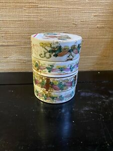 Antique-Chinese-Famille-Porcelain-Stacking-Box