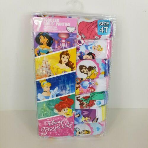 Disney Princess Girls Toddler Panties Underwear Sz 4T 7 Pack Belle Ariel New