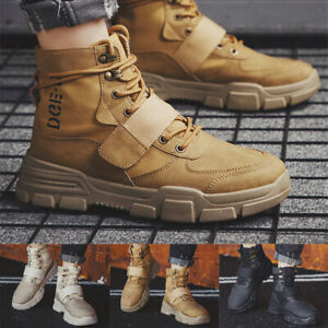 Men-High-top-Military-Ankle-Boots-Desert-Tactical-Outdoor-Sports-Hiking-Shoes-NY
