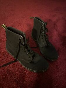 doc dr marten black canvas casual high top sneakers 8  ebay
