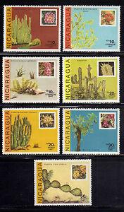 NICARAGUA-1987-MNH-SC-1639-1645-Cactus