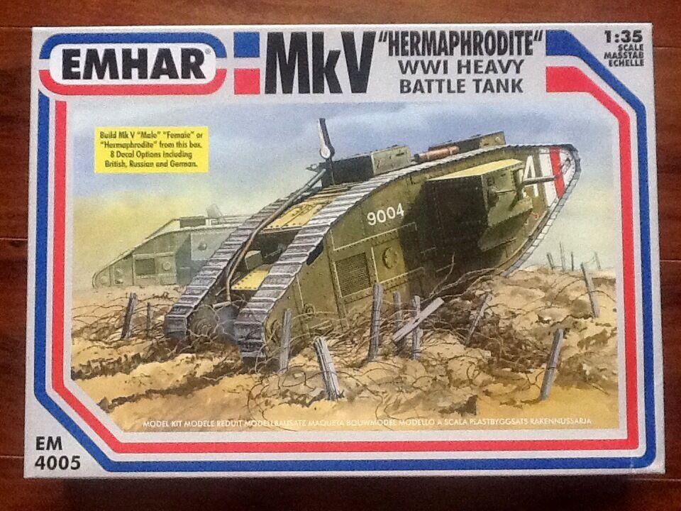 EMHAR 1 35 WW 1 BRITISH Mk V  HERMAPHRODITE   HEAVY BATTLE TANK BRAND NEW
