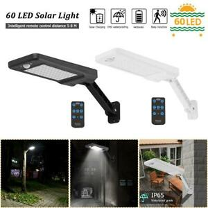 60-LED-Luz-Solar-Regulable-Wall-Street-Sensor-De-Movimiento-Infrarrojo-Pasivo-Lampara-De-Jardin