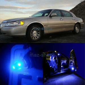 12pcs Blue Map Door Led Light Interior Package For Lincoln Town Car
