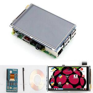 3-5-034-LCD-Touch-Screen-Display-Huelle-Set-Kuehlkoerper-fuer-Raspberry-Pi-3