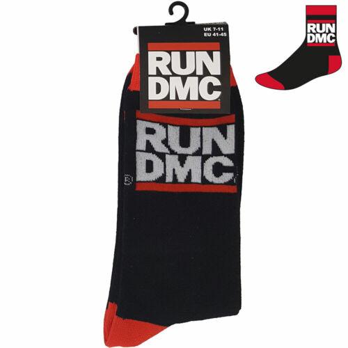 "* Def Jam * Official Merch Old School Hip Hop RUN DMC /""Logo Classique Chaussettes/'s"