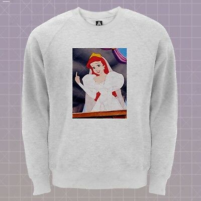 Ariel Finger Sweatshirt Princess Mermaid Jumper Seashell Elsa Sweat Ursula Top