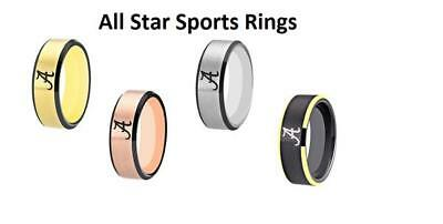 Texas Longhorns Tungsten Carbide  Wedding Band Matte Finished 4 Colors Available