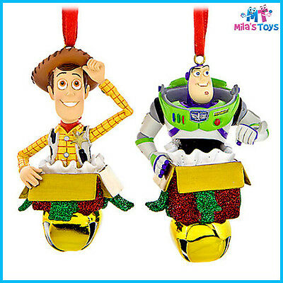 Disney Toy Story Woody & Buzz Lightyear Figural Christmas Ornament Set brand new