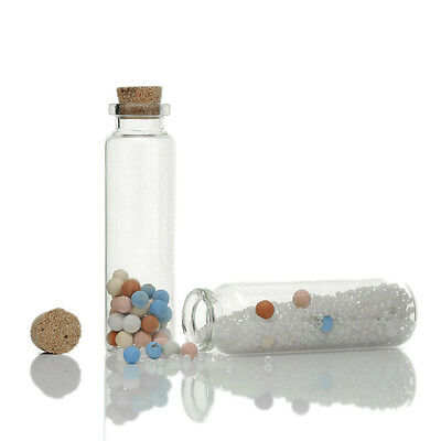 5 Nice Tie Plug Tiny Glass Bottle Jewelry Vial Potion 7.9cm x2.2cm