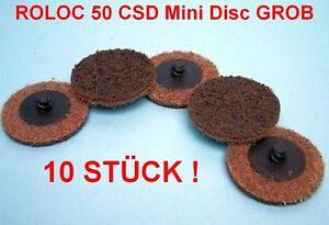 5x ROLOC™ Fächer-Schleifscheiben 50 mm Zirkon-Korund K80 Flap Disc Stützteller