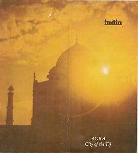 Details about 1975 Tourist Guide + Road Map AGRA India Taj Mahal Fatehpur on agra new delhi india map, taj mahal india location on map, madrid tourist map, agra uttar pradesh india map,