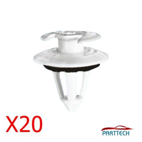 X20 MERCEDES BENZ Porte intérieure carte moulage /& bordure panneau de retenue clips