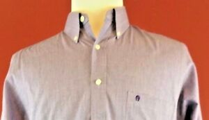 Etienne-Aigner-Purple-Gray-Dress-Shirt-Mens-Size-15-5-32-33-made-in-USA