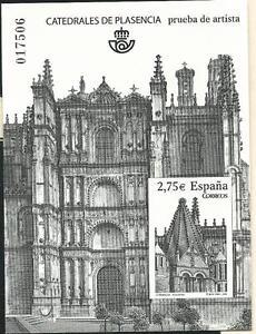 Espagne-Epreuve-officiel-Edifil-101-Cathedrale-Plasencia