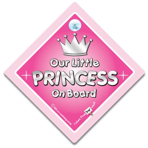 Ventosa firmar Bebé a bordo de signo Nuestra pequeña Princesa a Bordo Coche Firmar