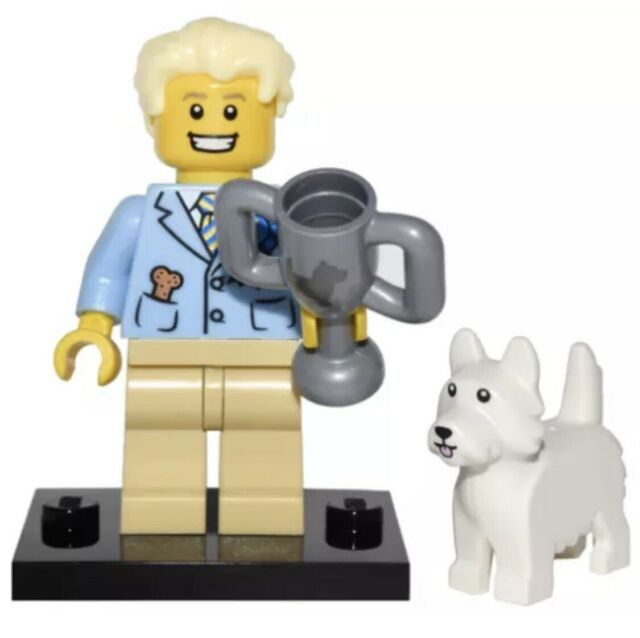 Lego Puppy Minifig x 1 Bright Light Yellow /& Orange Dog Size 2cm x 2cm x 1cm