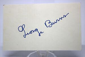 Original Autogramm Autograph GEORG BURNS