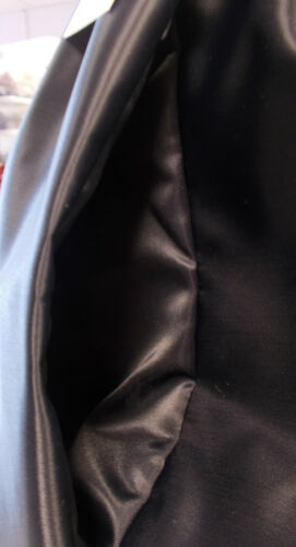 Black 4XL Retro Nylon Satin Leisure Shorts Pockets S
