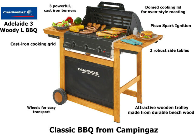 Campingaz 3 Series.Campingaz Adelaide 3 Woody L Bbq 3000004974